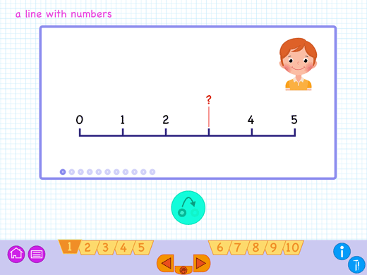 Get understanding of the line with numbers.