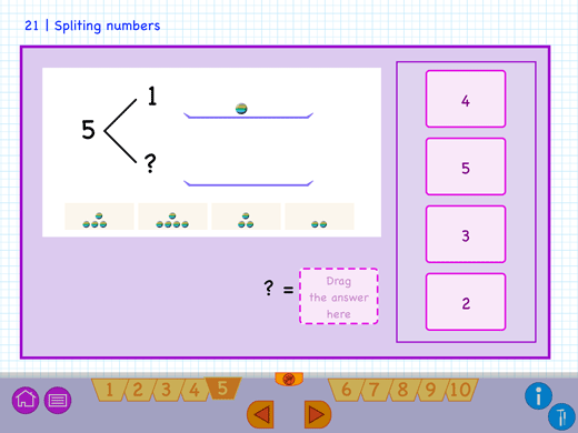 Example question to learn to split numbers.