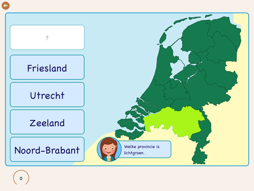 Learn to point the Dutch regions