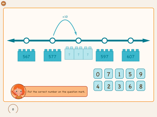 Exercise to create a number sense up to 1000