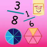 Icon of our Fractions & Shape app