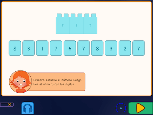 Durante este ejercicio, escucharás la voz que dirá el número correctamente, luego tendrás que escribir el número y ver si es correcto.