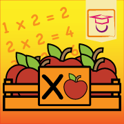"App icon of the multiplication times table app: ""The ten times tables"""